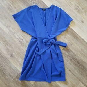 Topshop Blue Wrap Dress Size 8